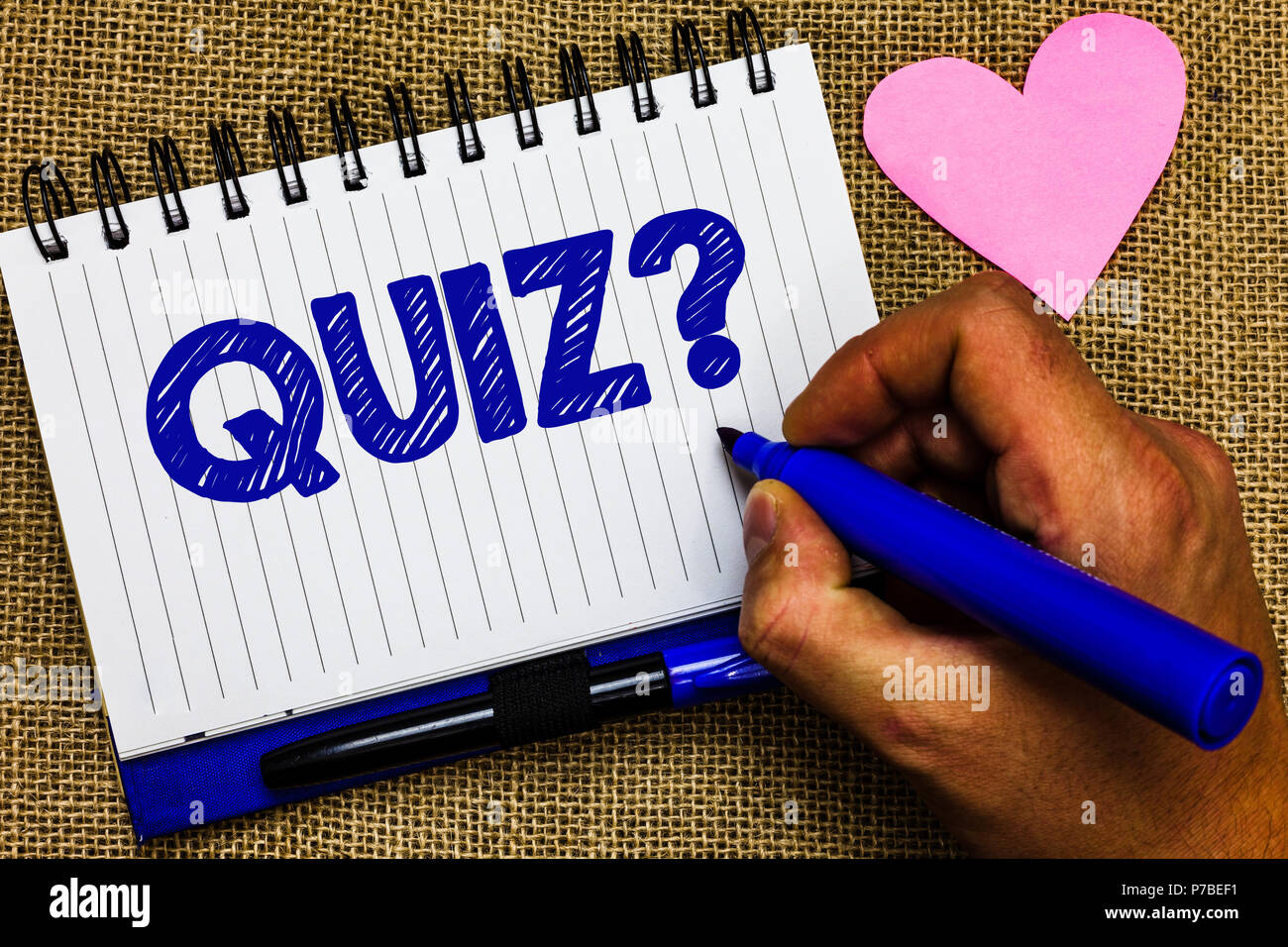Writing note showing Quiz Question  Business photo