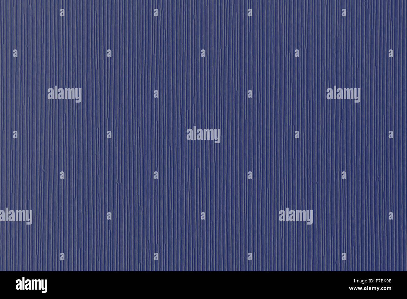 Navy-blue textured corrugated striped wallpaper background - Stock Image
