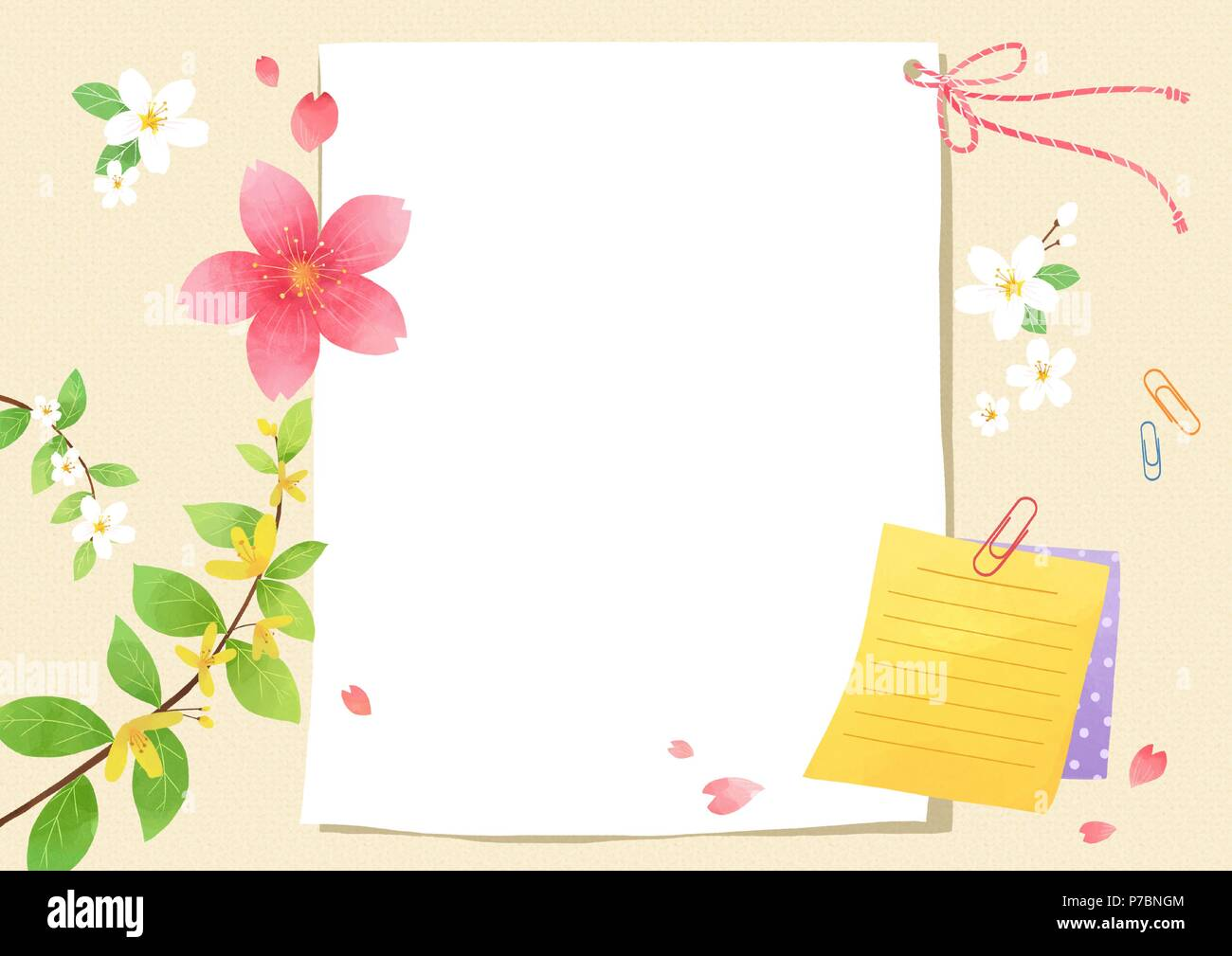 Vector a card template frame border for a text with spring vector a card template frame border for a text with spring elements invitation postcards cards and so on 002 stopboris Choice Image