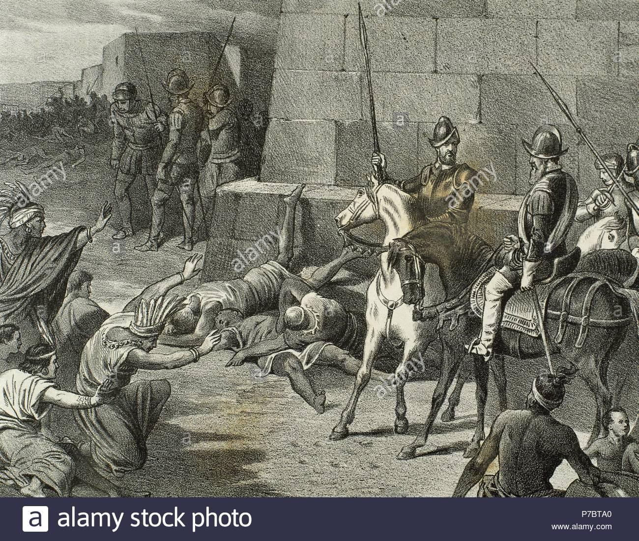 Atahualpa (1497-1533). Inca Emperor. Capture of the Inca ruler by