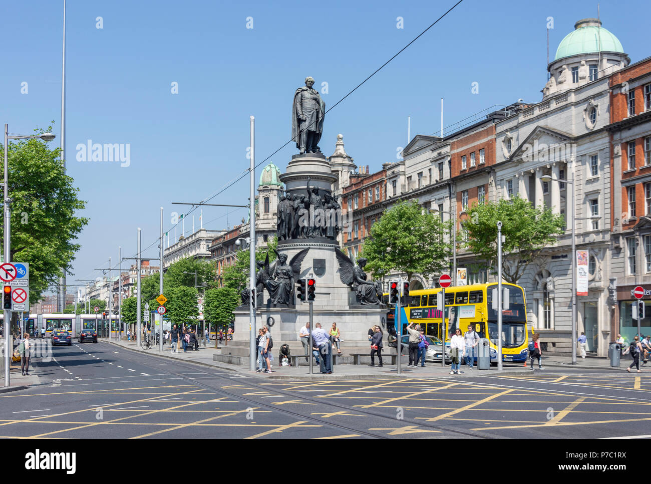 O'Connell Street Lower, Dublin, Leinster Province, Republic of Ireland - Stock Image