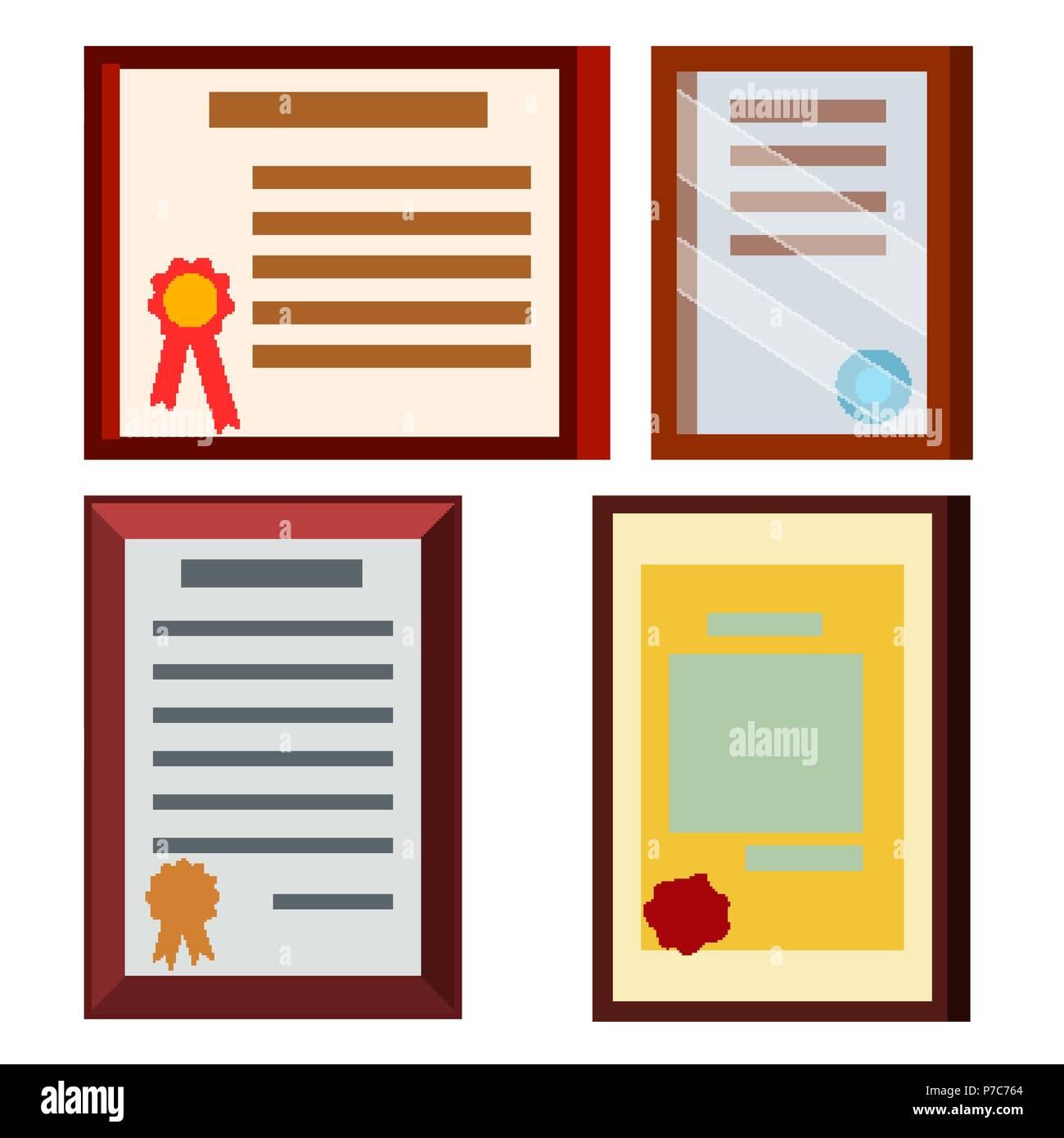 diploma certificate set vector business education award