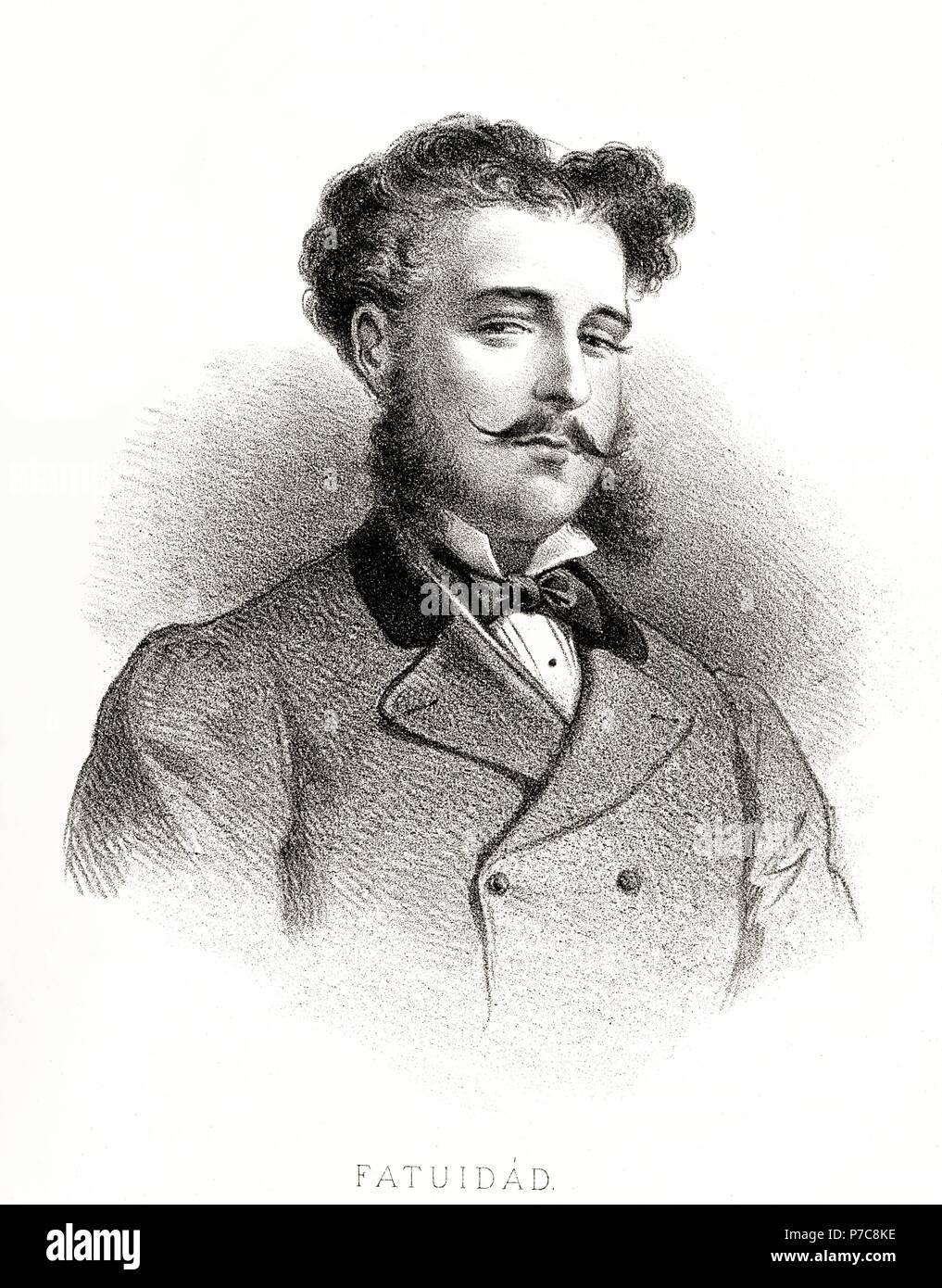 Carácteres del individuo. Hombre fatuo. Grabado de 1870. Stock Photo