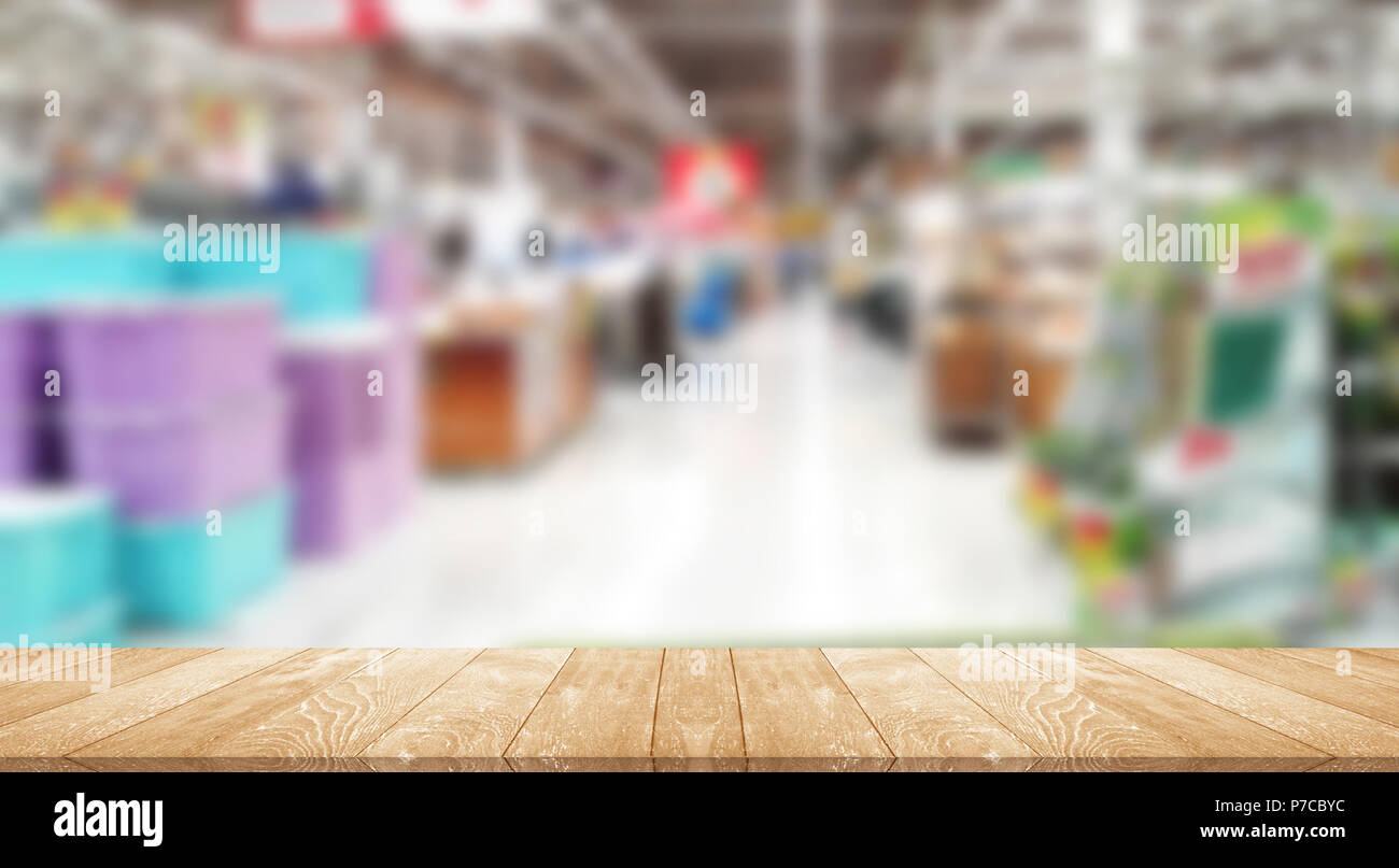 Grocery supermarket Sell's commonly used blurred images - Stock Image