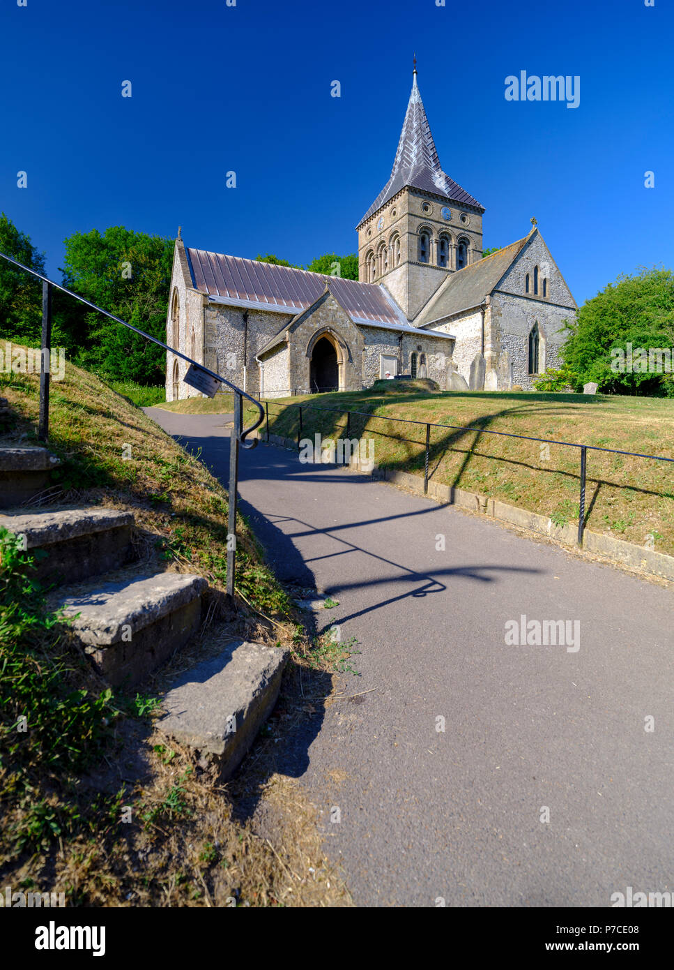 All Saints Church in East Meon, Hampshire, UK - Stock Image