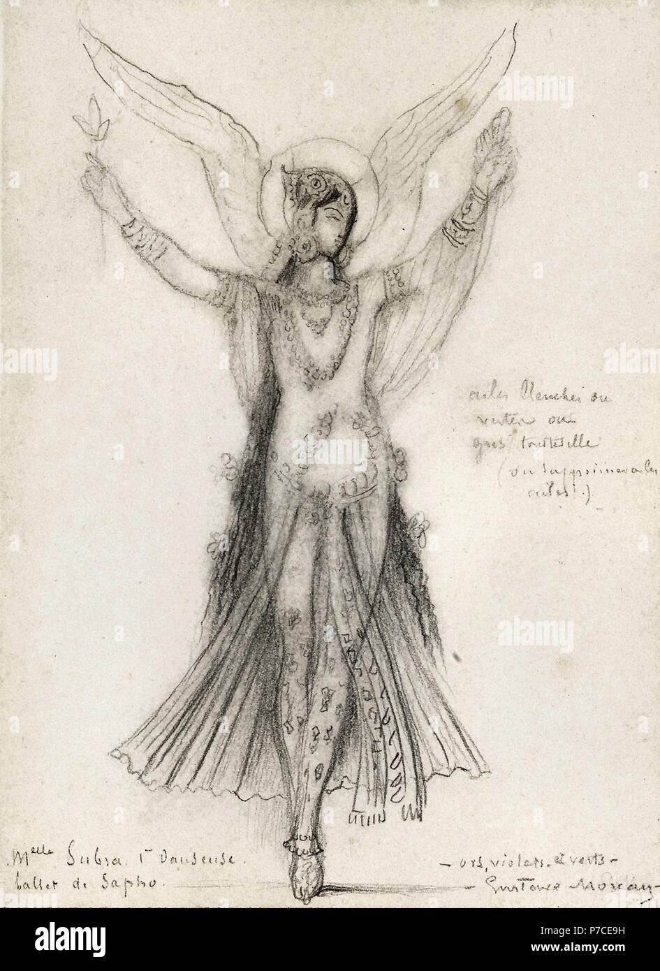 Moreau  Gustave - Première Danseuse Mademoiselle Subra - Ballet De Sapho - Stock Image