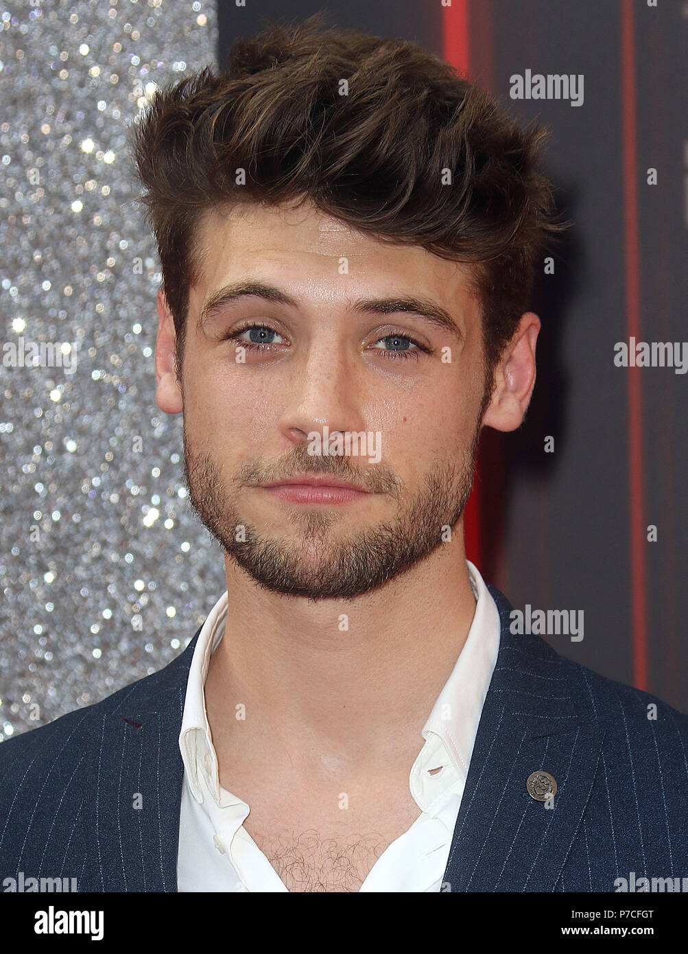 Jun 06, 2018 - Ned Porteous attending British Soap Awards 2018, Hackney Empire in London, England, UK - Stock Image