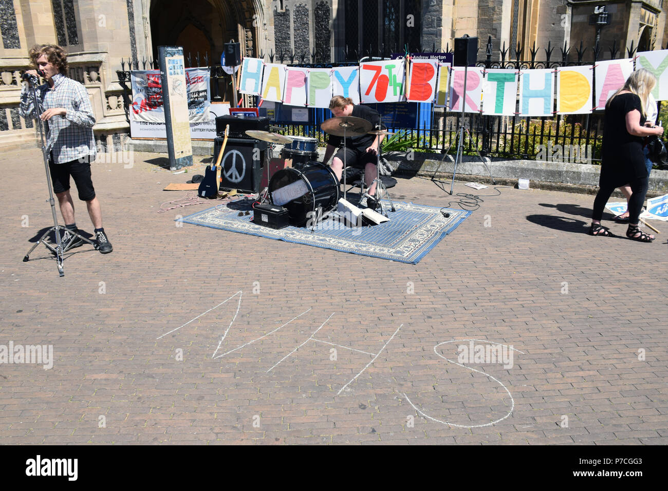 NHS 70th birthday event in central Norwich, June 2018 UK - Stock Image