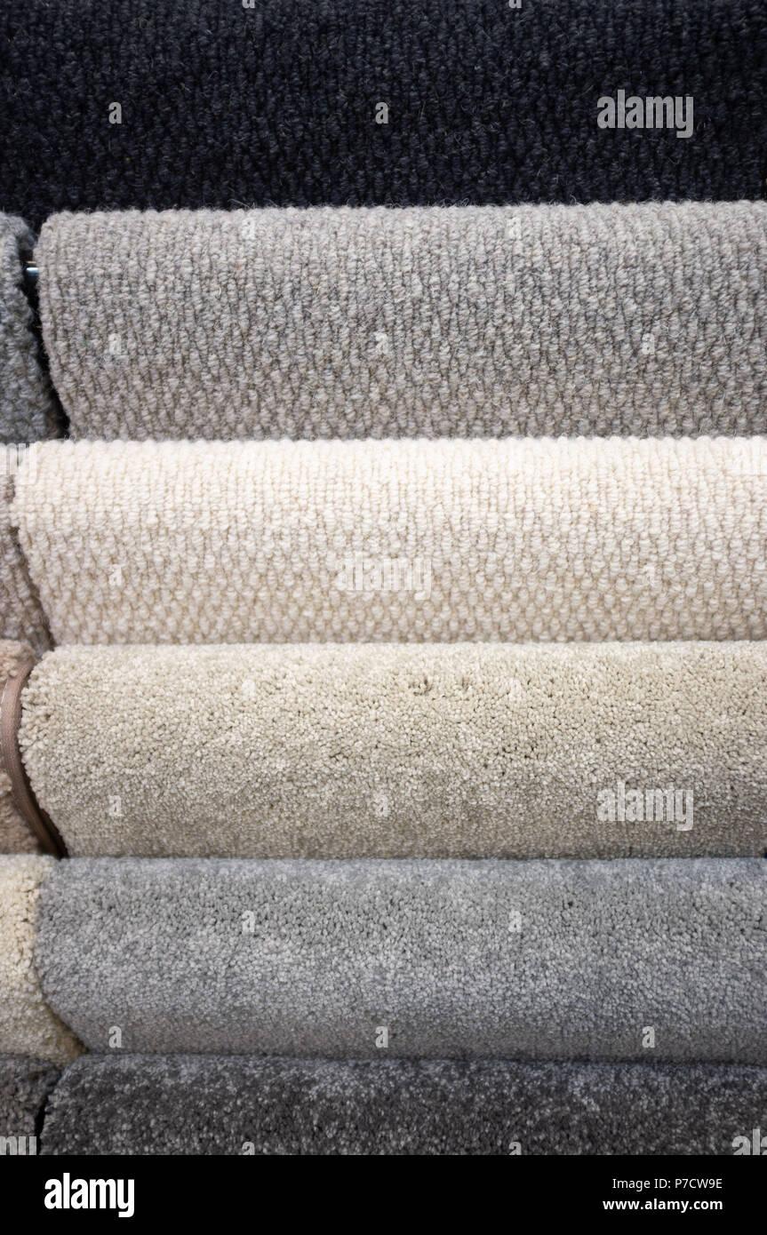 Floor carpet samples background patterncloseup - Stock Image