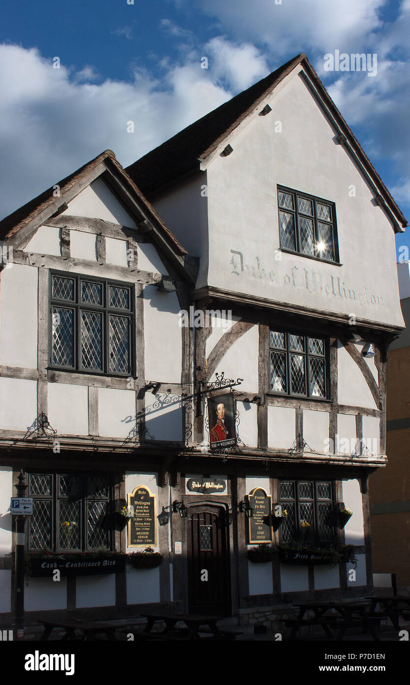 The Duke of Wellington pub, Southampton, Hampshire dating back to 1220 - Stock Image