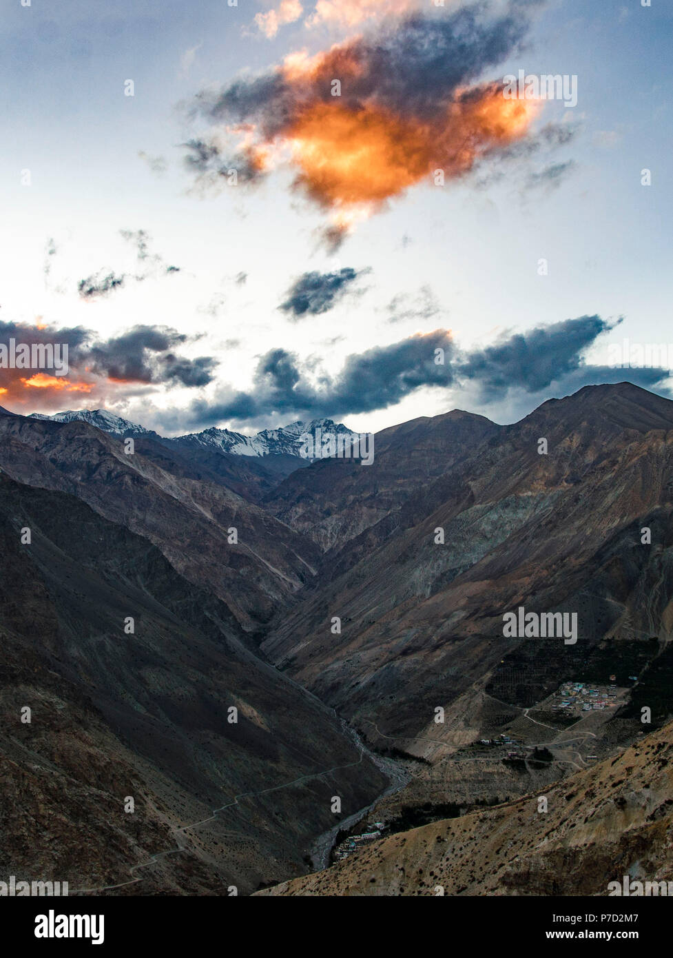 Spiti Valley, October 2017 - Stock Image