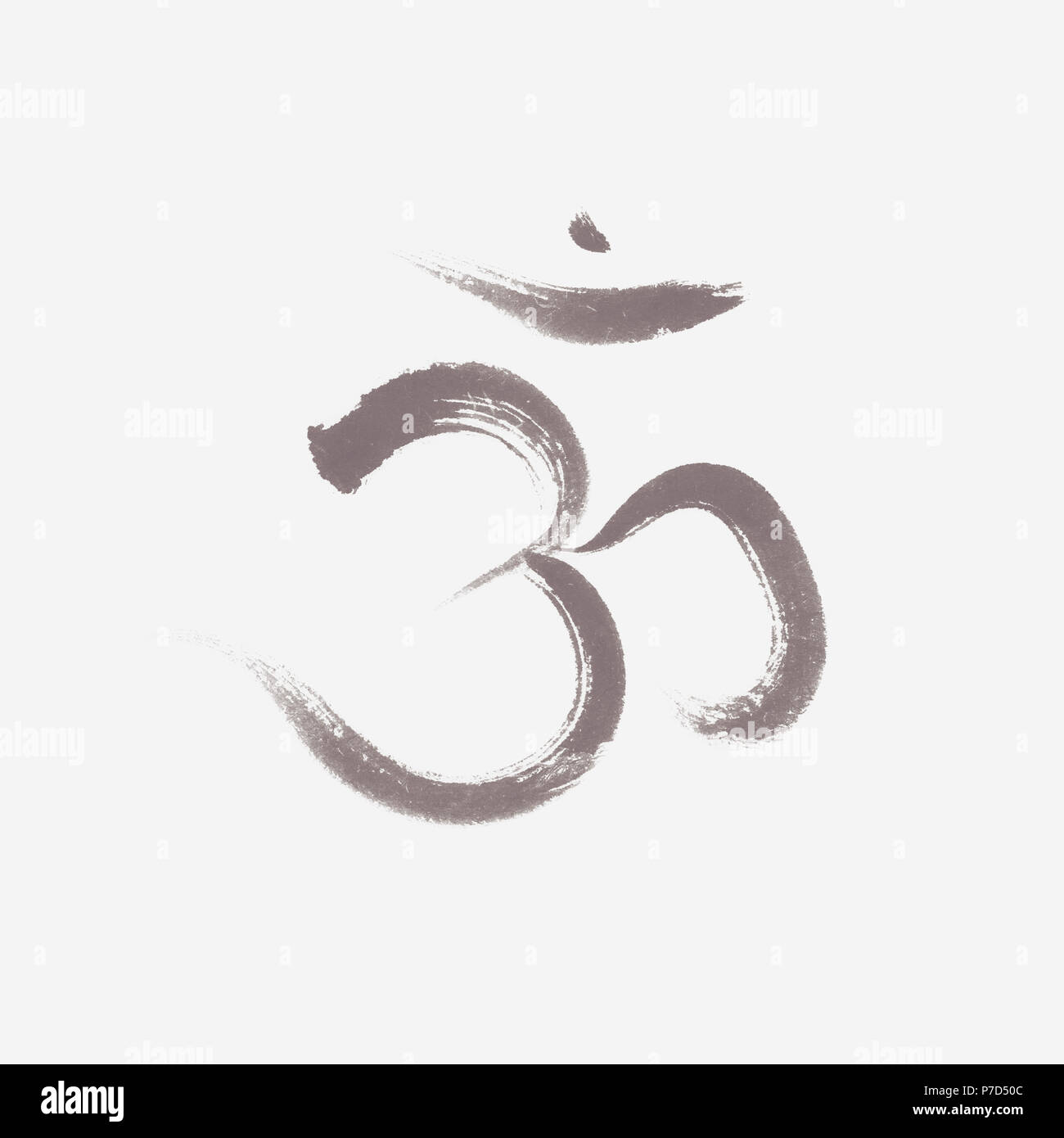 Illustration Of A Sacred Spiritual Sanscrit Symbol Om Or Aum