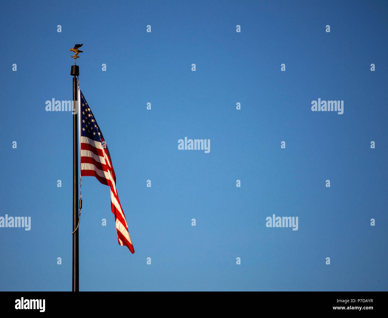 US Flag in a very light breeze - Stock Image
