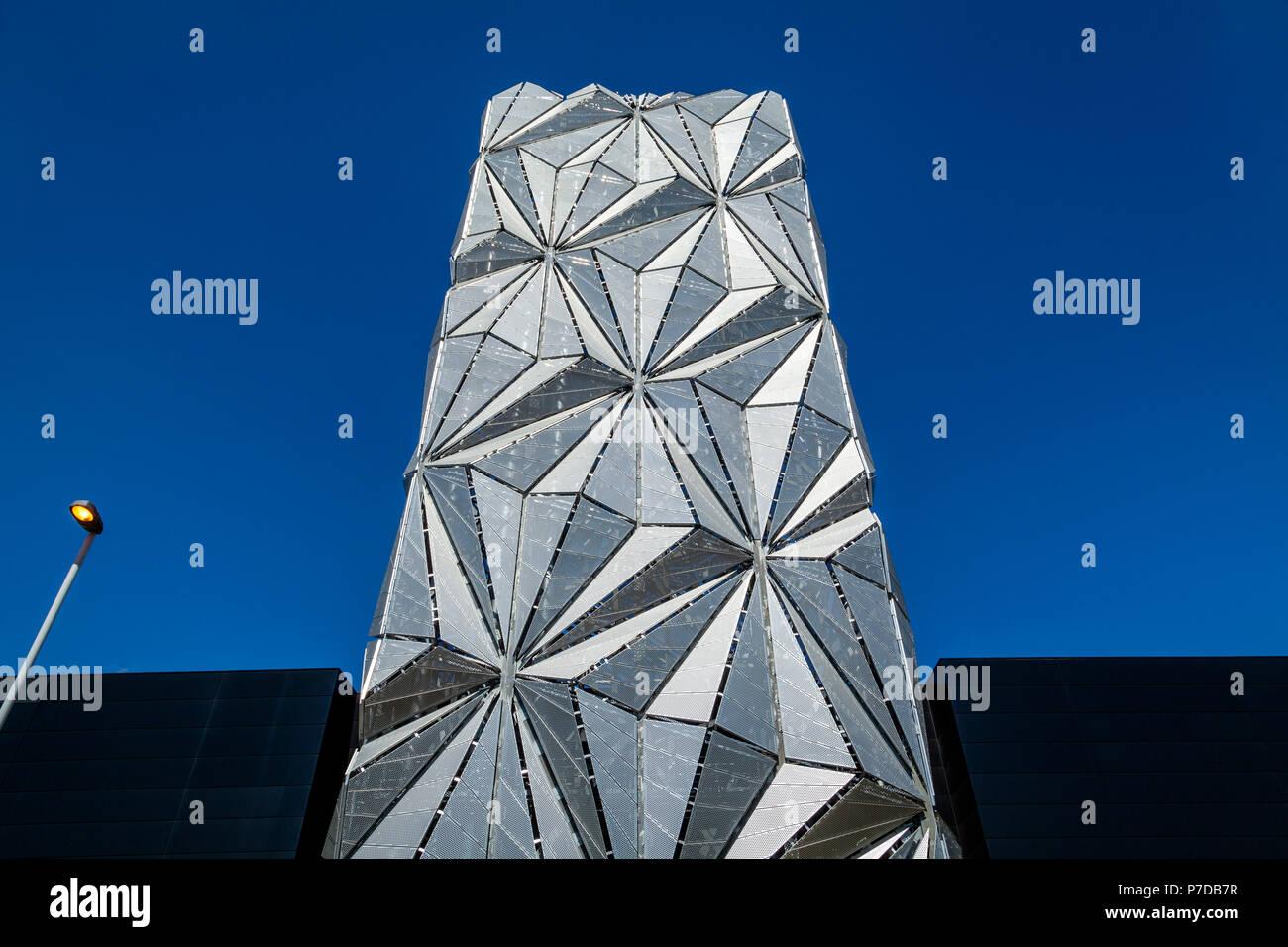 The Optic Cloak, Greenwich Peninsula, London, United Kingdom - Stock Image