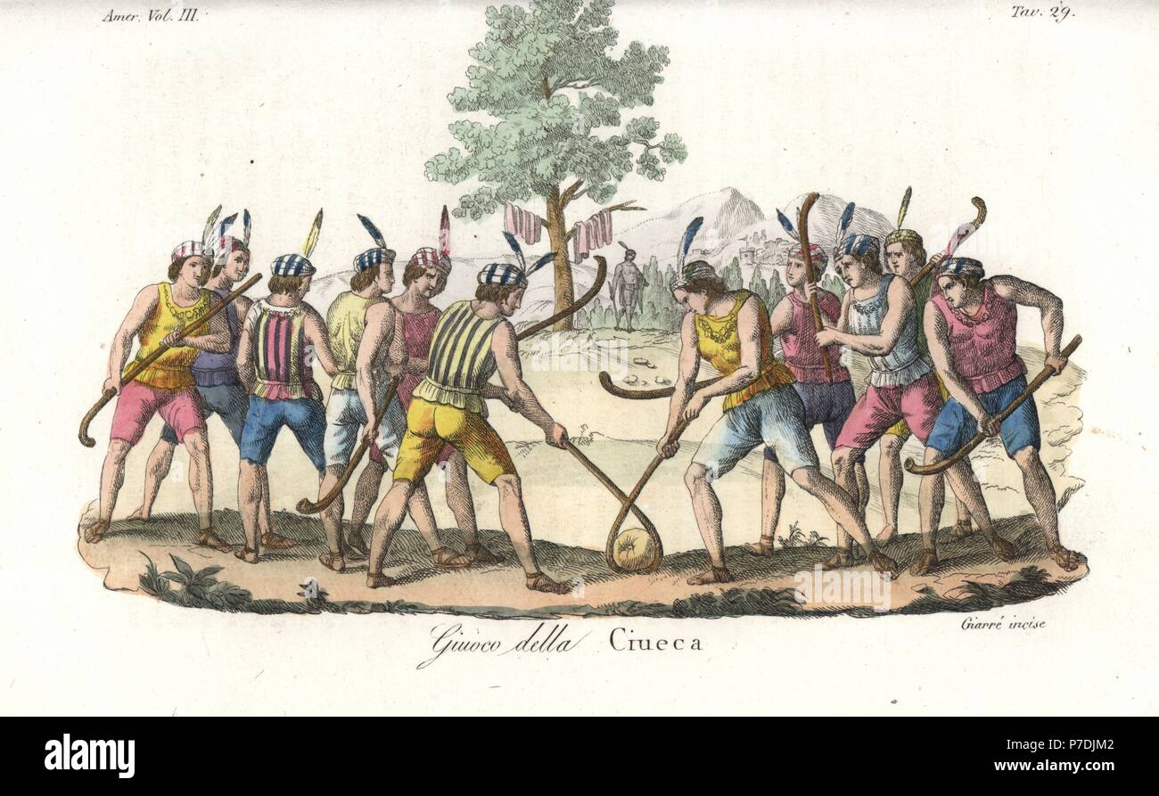 a6396b1c9 Indigenous Mapuche of Chile playing the game of ciueca or palin, a  hockey-like