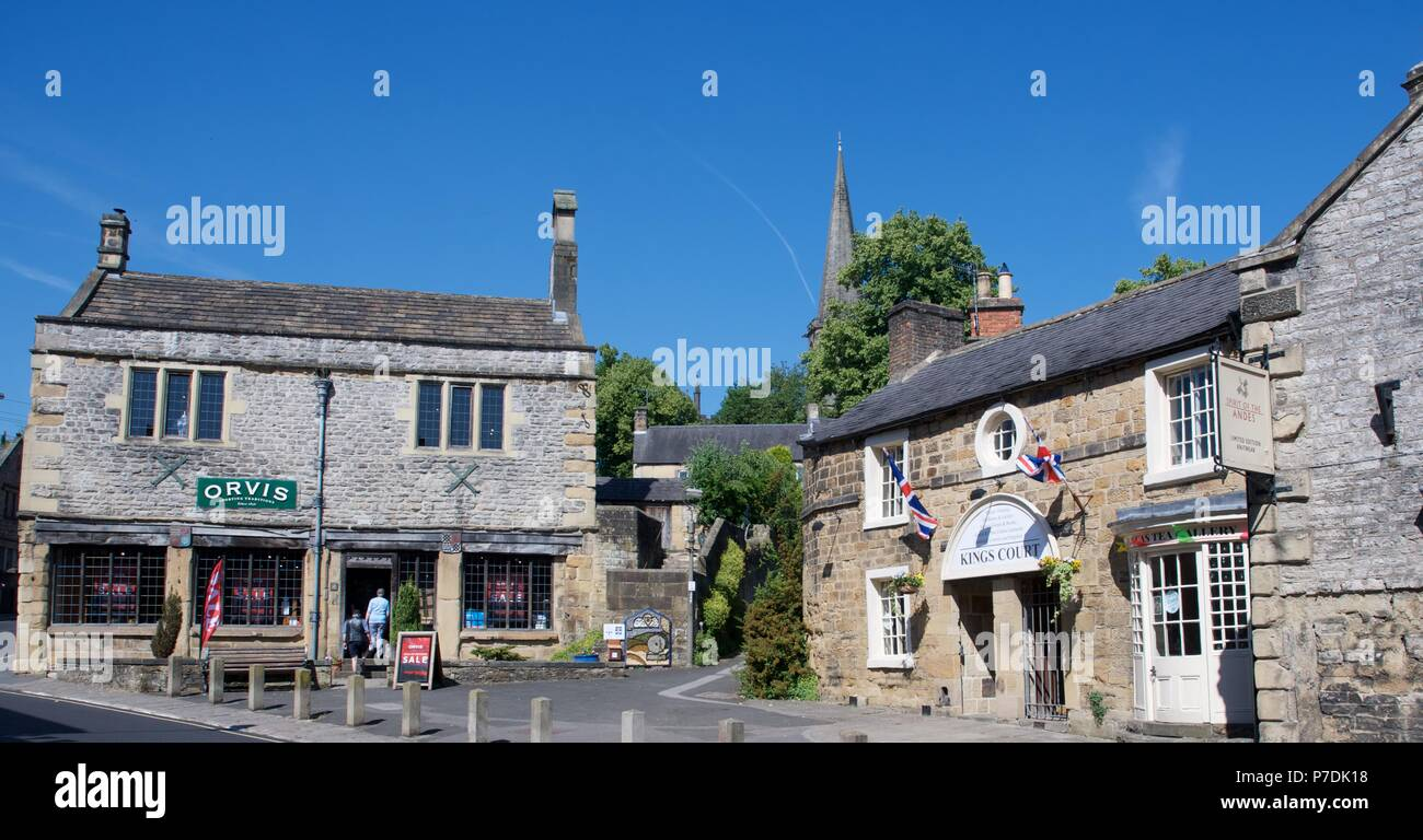 Buildings in Bakewell Town Centre,  Derbyshire - Stock Image