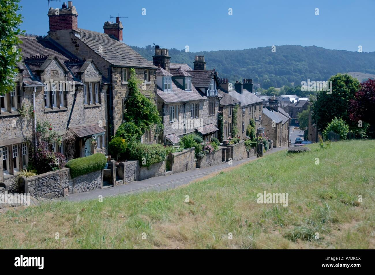 Houses in Bakewell,  Derbyshire - Stock Image