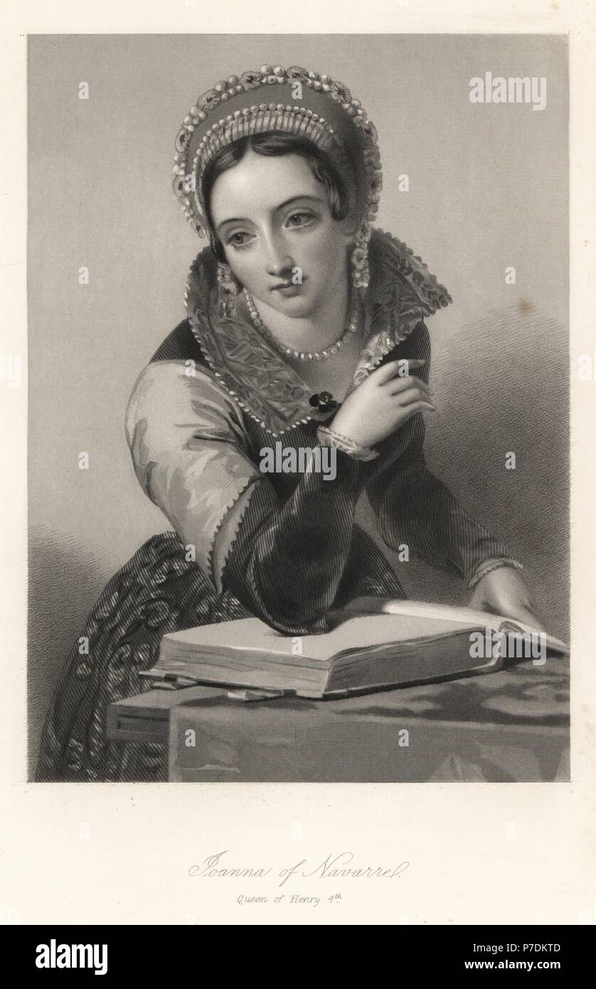Joanna of Navarre, queen of King Henry IV of England. Steel ...