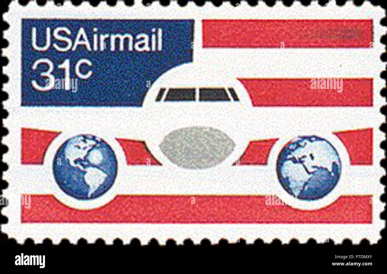 1976 airmail stamp C90. - Stock Image