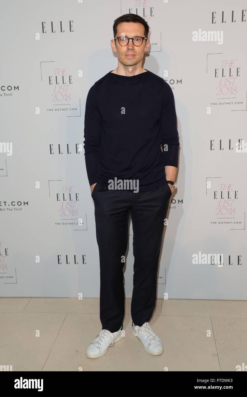 The Elle List 2018 held at Somerset House - Arrivals  Featuring: Erdem Moralioglu Where: London, United Kingdom When: 04 Jun 2018 Credit: Lia Toby/WENN.com - Stock Image