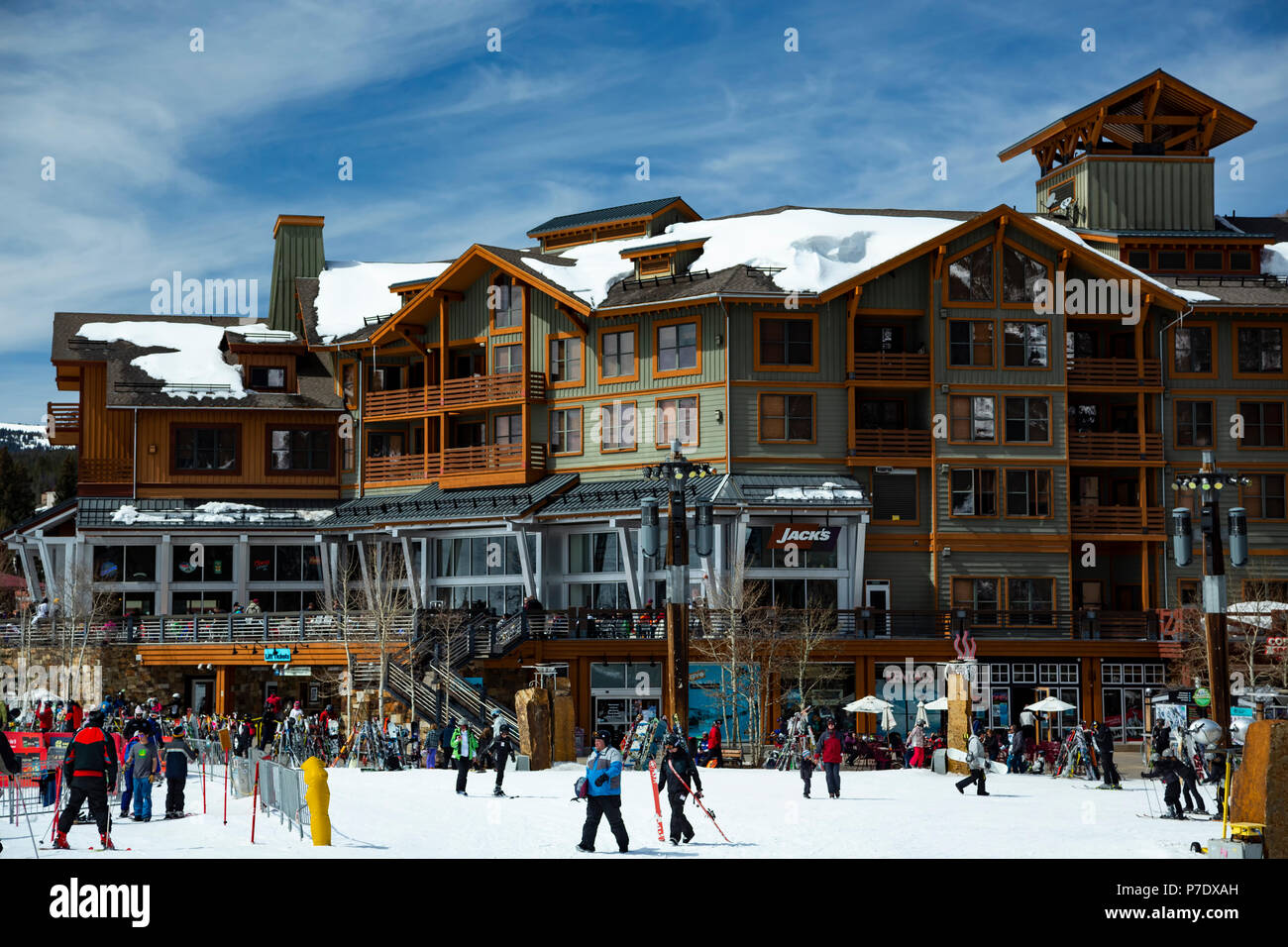 Center Village, Copper Mountain Ski Resort, Copper Mountain, Colorado USA - Stock Image