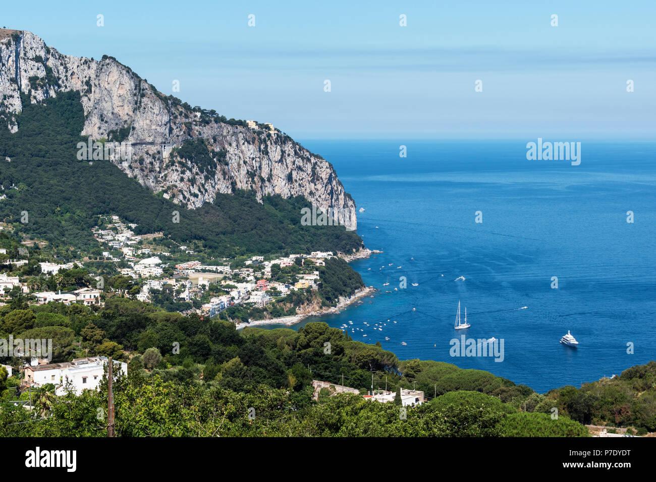 the island of capri, tyrrhenian sea, gulf of naples, campania, italy. - Stock Image