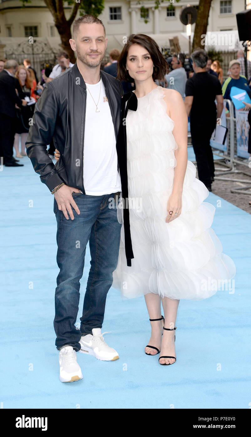 Photo Must Be Credited ©Alpha Press 078237 04 07 2018 Tom Hardy and  Charlotte Riley Swimming With Men Premiere at Curzon Mayfair London c06feb71864f