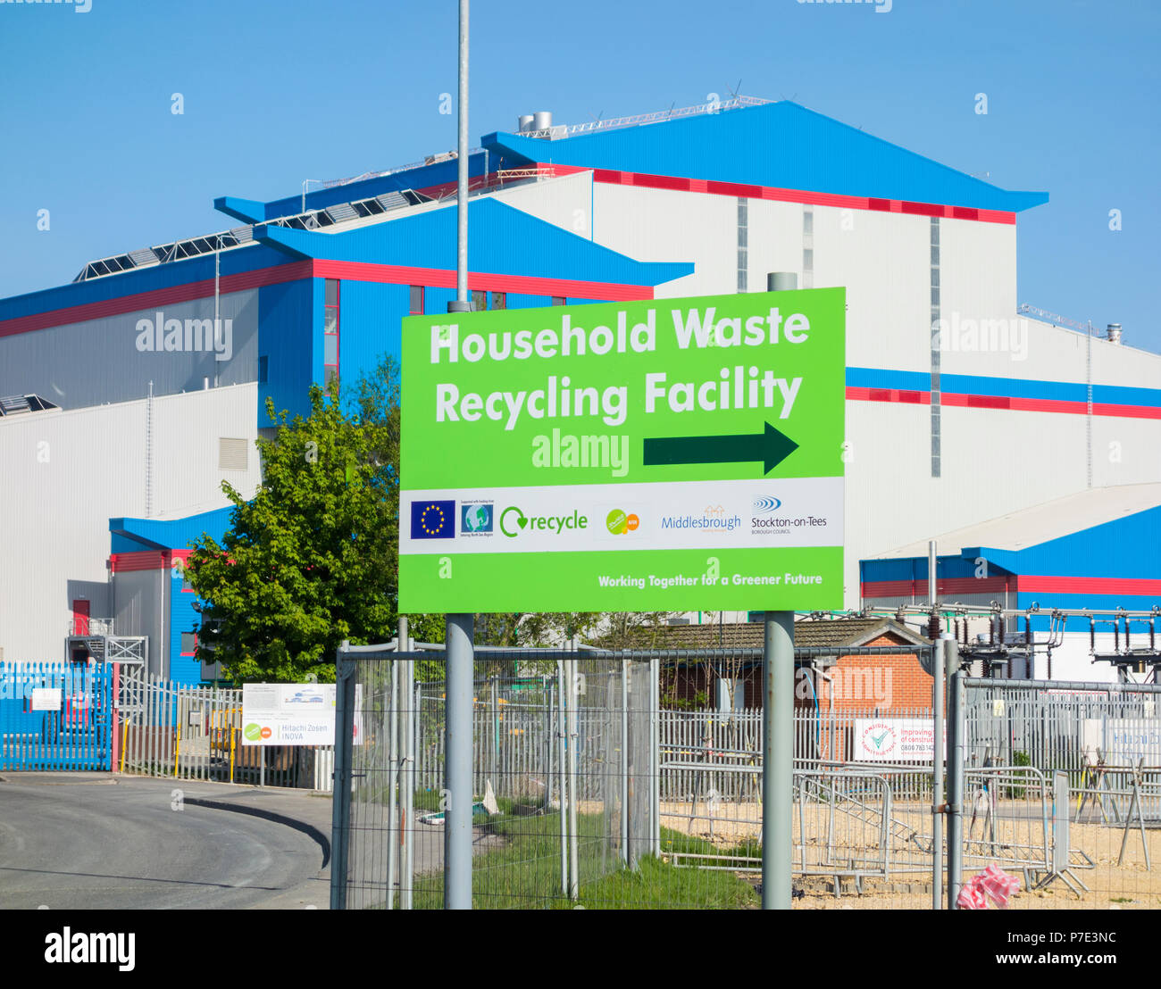 Energy from waste plant at Haverton Hill near Middlesbrough,Teesside, England. UK - Stock Image