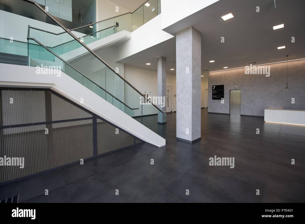Modern Commercial office Interiors - Stock Image