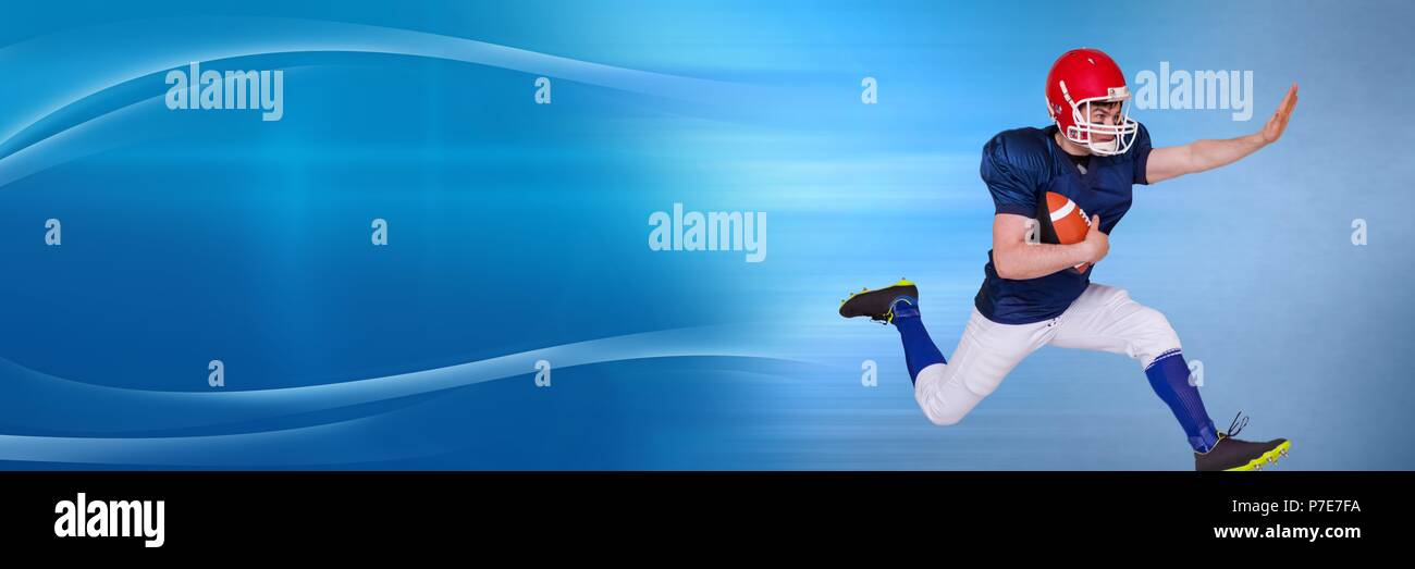 American football player with curved transition - Stock Image