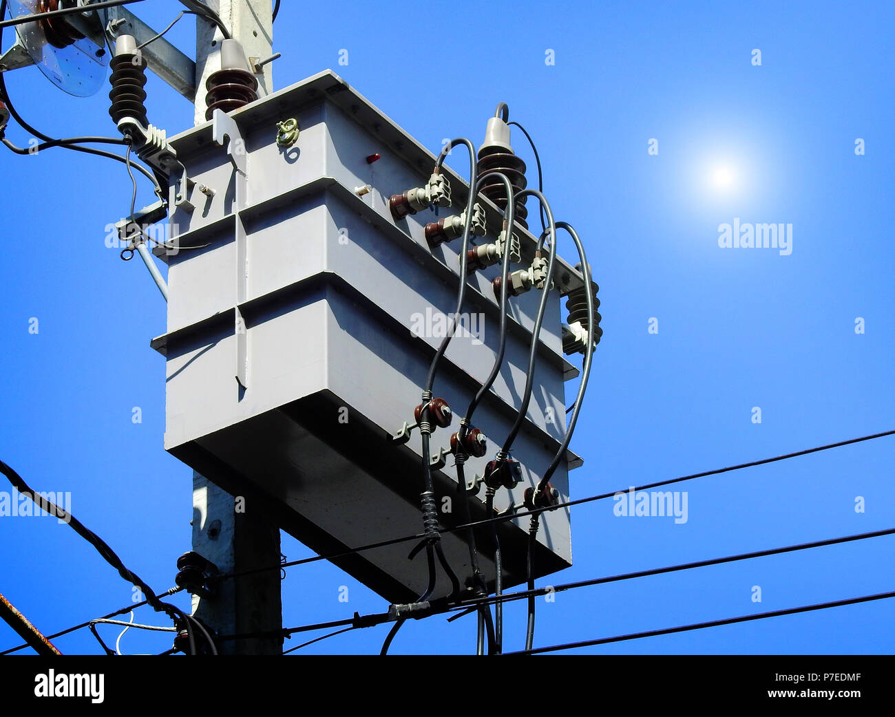 Transformer Wiring Stock Photos Images Two Transformers In Series A Is An Electrical Device That Transfers Energy Between Or More Circuits Through