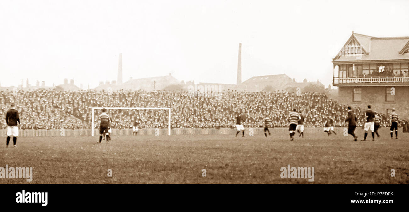 A football match, early 1900s - Stock Image