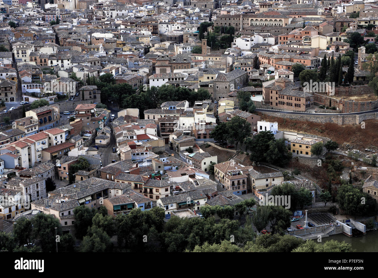 High angle view of Toldeo, Spain - Stock Image