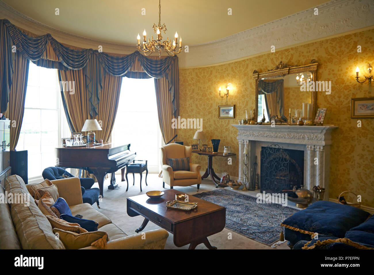 Property released Privately owned beautiful country manor house and farm buildings converted into first class quality homes in South Yorkshire - Stock Image