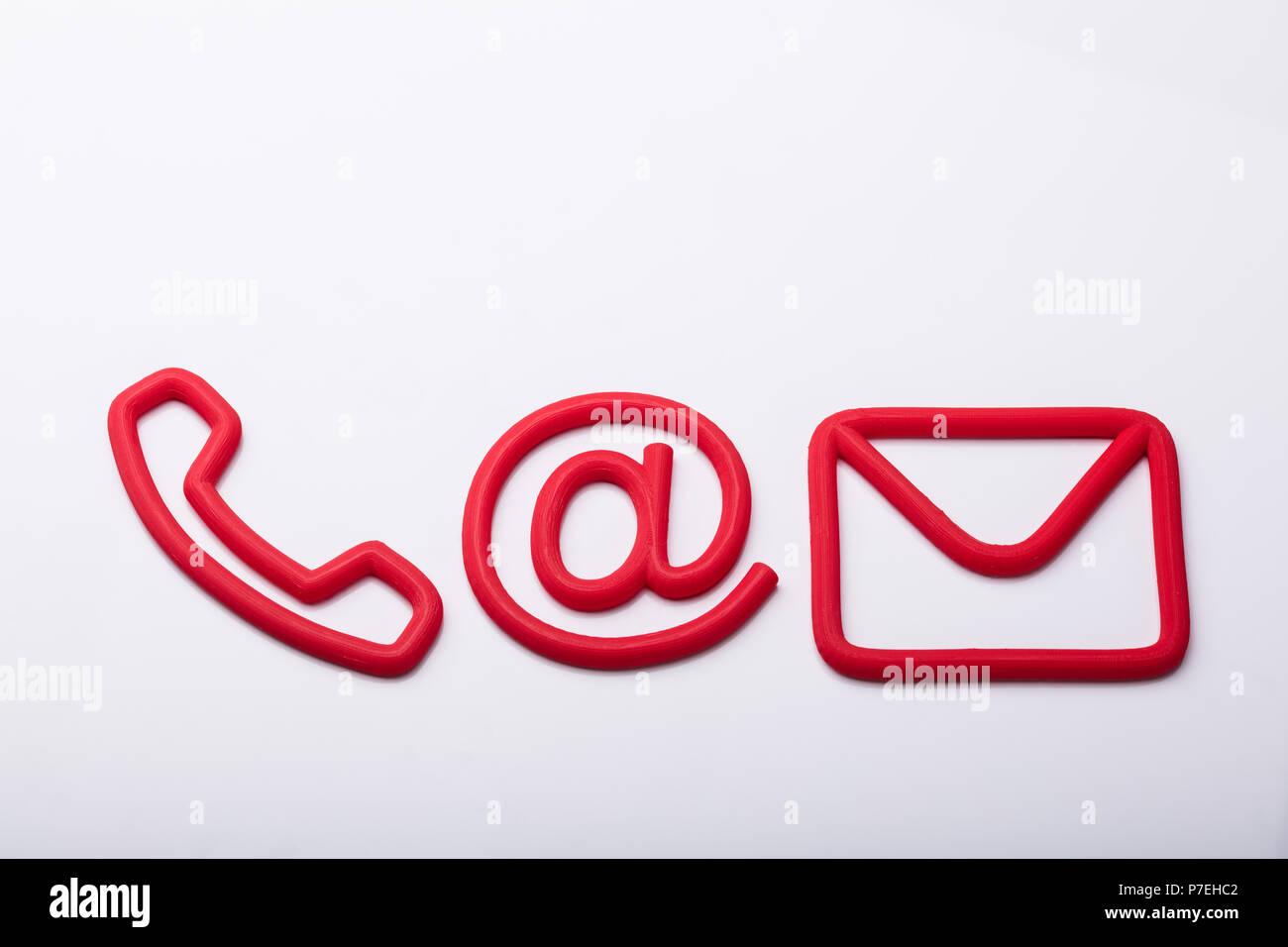 Contact Us Icons Showing Various Communication Options Stock Photo