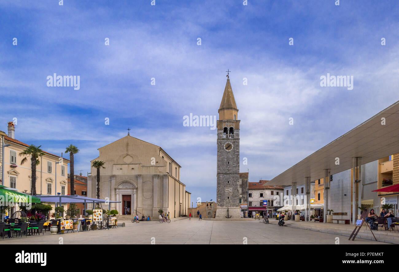 iazza Slobode Liberta, Umag, Croatia - Stock Image