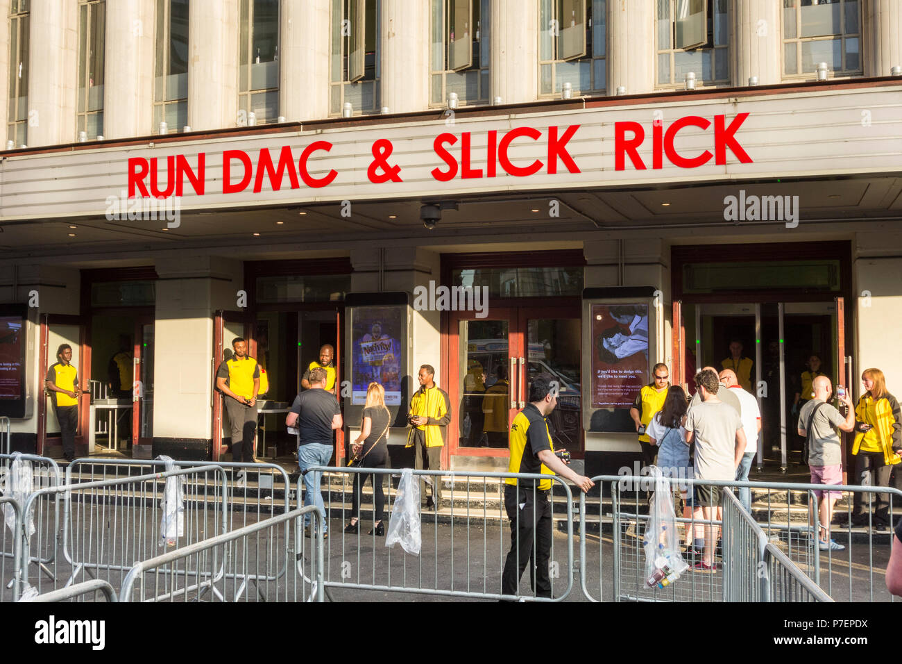 Hip-Hop legends Run Dmc at Eventim Apollo, Hammersmith, London, UK - Stock Image