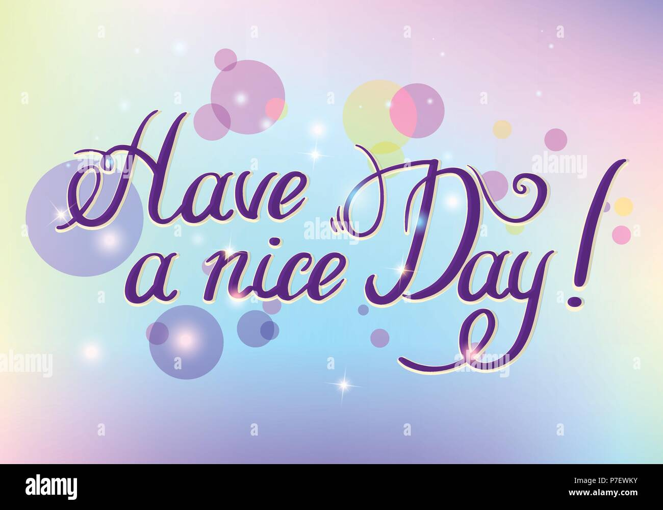 Have a nice day hand drawn lettering isolated on white background have a nice day hand drawn lettering isolated on white background design element for poster greeting card banner vector illustration m4hsunfo