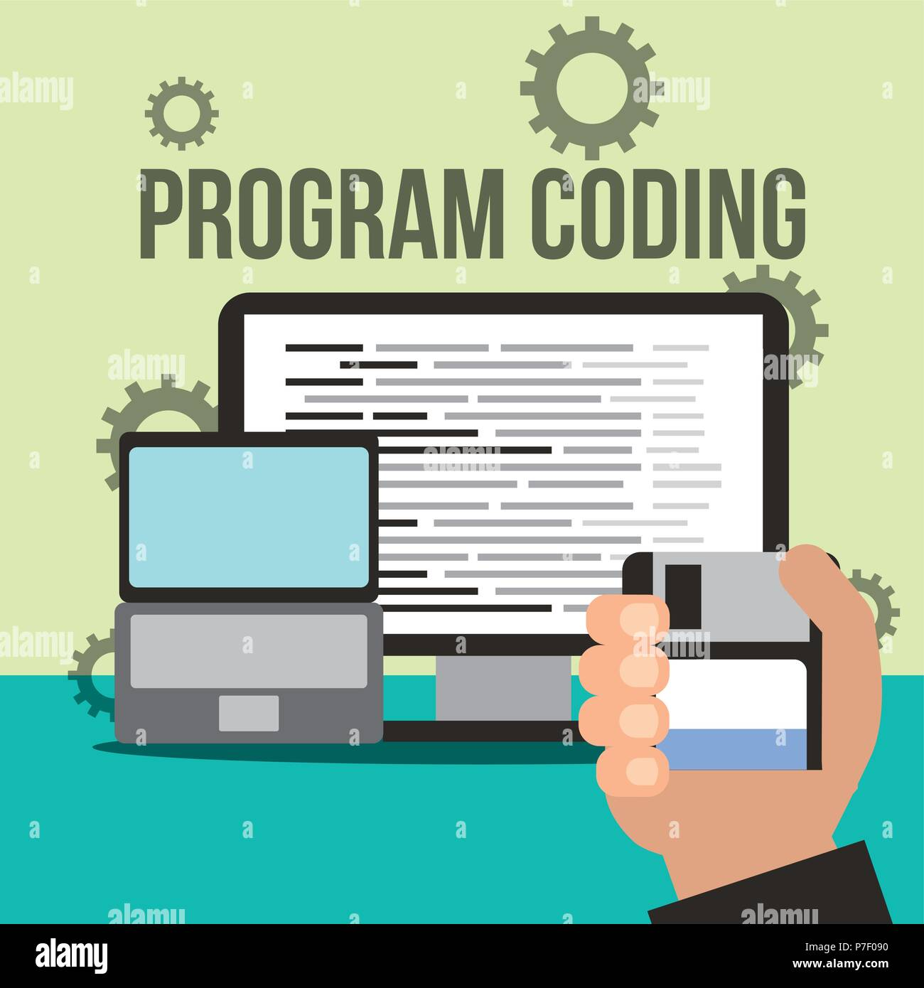 program coding website - Stock Image