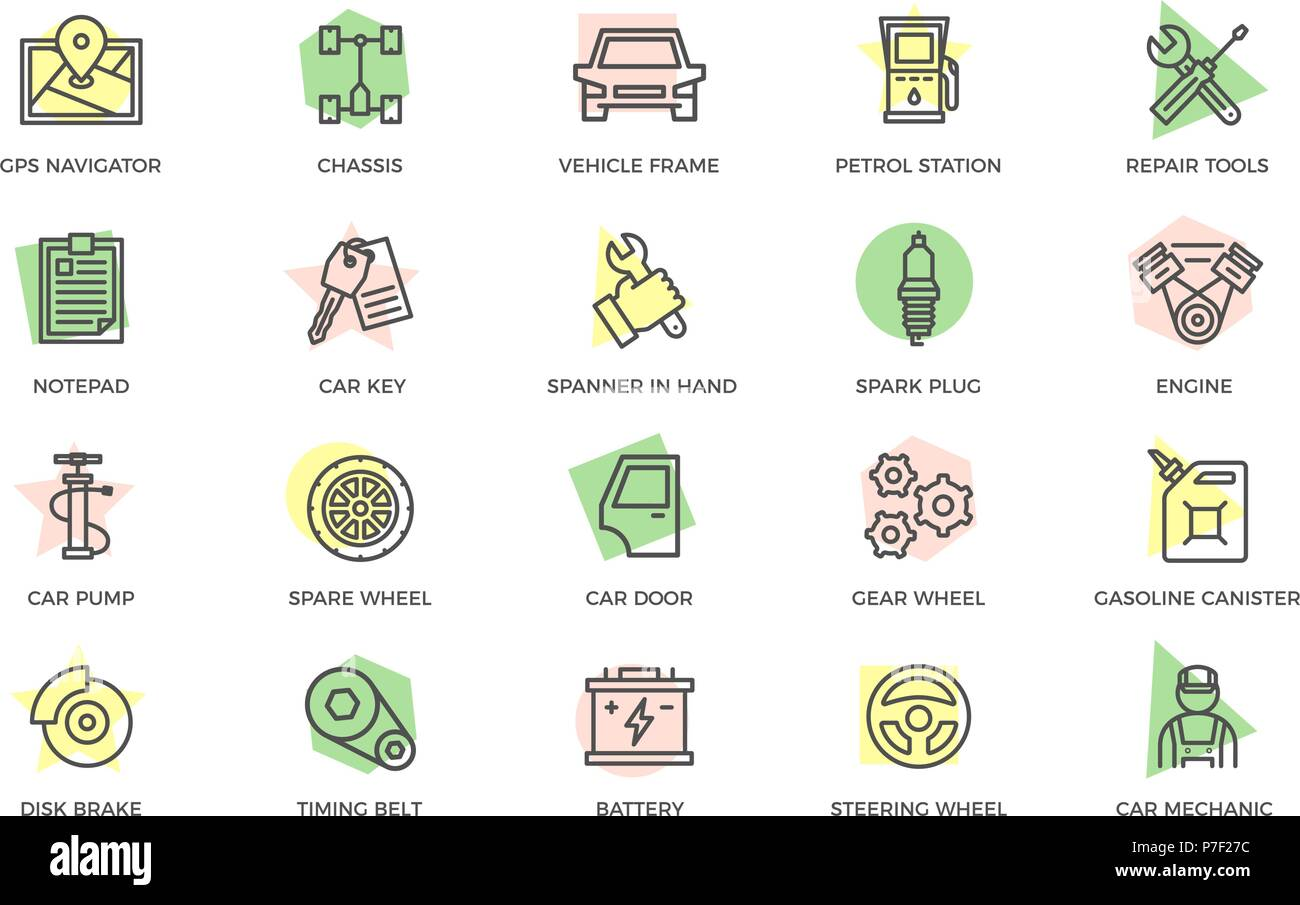 Disc Brake Stock Vector Images Alamy All Info About Auto Repair Mechanical Force Diagram Set Of Car Service And Colored Line Icons With Titles Route Map