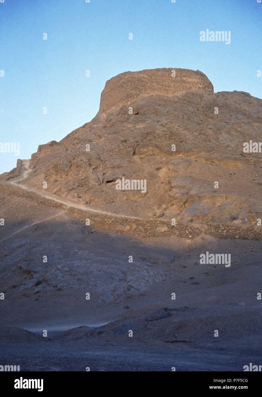 Iran. Yazd. Zoroastrian Tower of Silence. - Stock Image