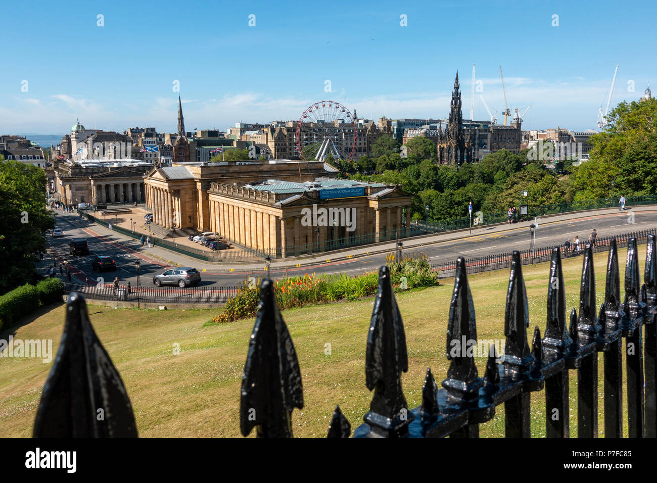 View of National Gallery of Scotland from The Mound in Edinburgh, Scotland, UK Stock Photo