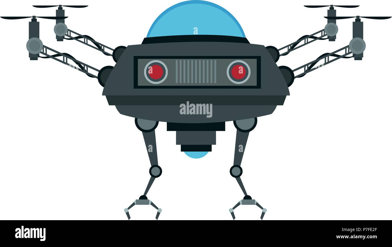 RC drone isolated - Stock Vector