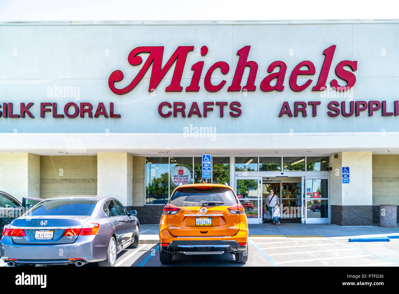 The Michaels Arts And Craft Store In Modesto California Usa Stock