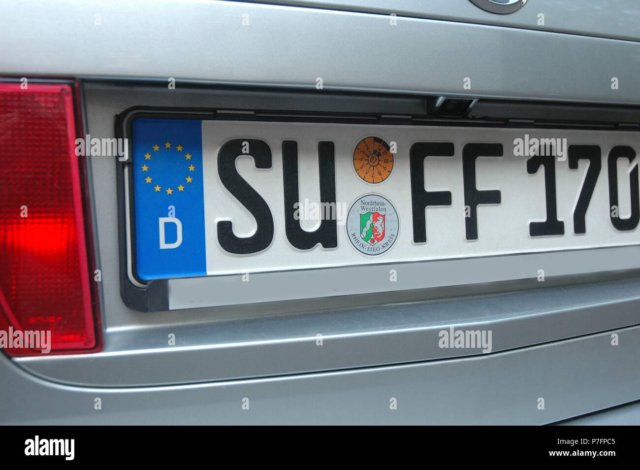 License plate Suff, Germany - Stock Image