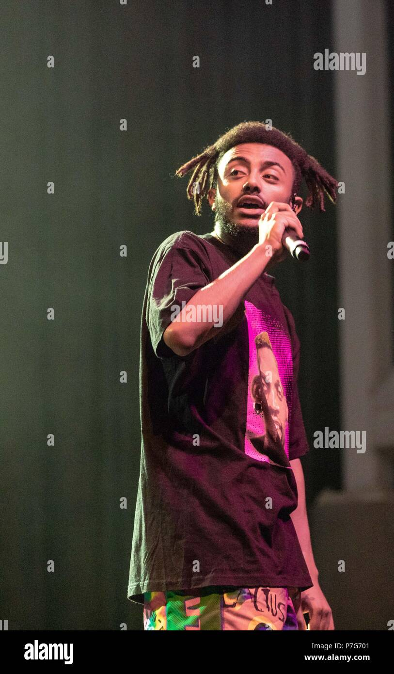 milwaukee wisconsin usa 5th july 2018 rapper amine adam amine