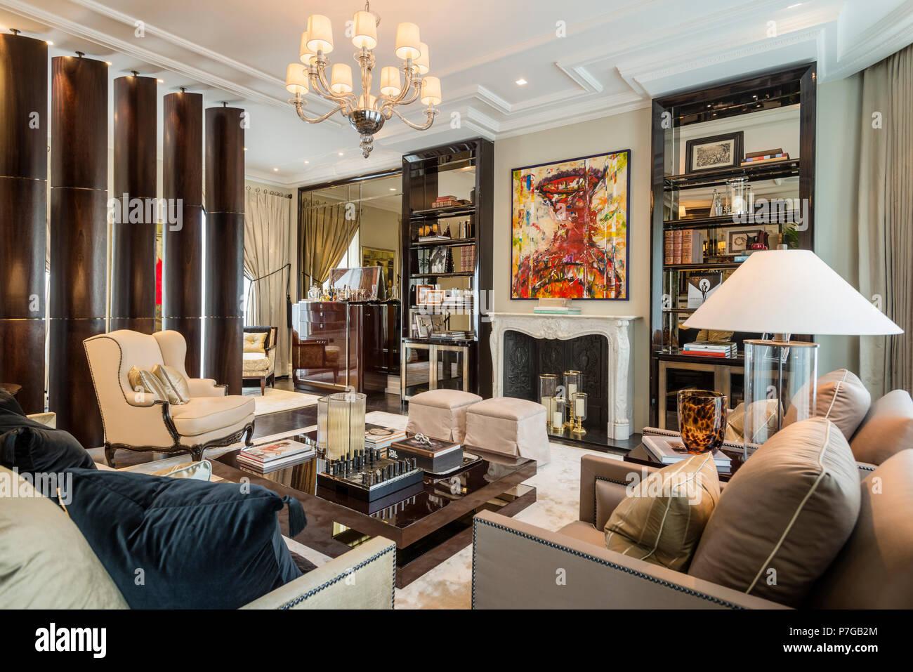 Art deco living room Stock Photo
