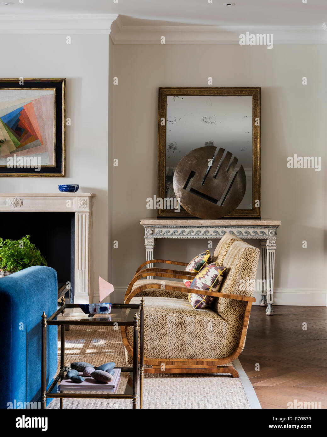 Modern armchairs in living room Stock Photo: 211187083 - Alamy