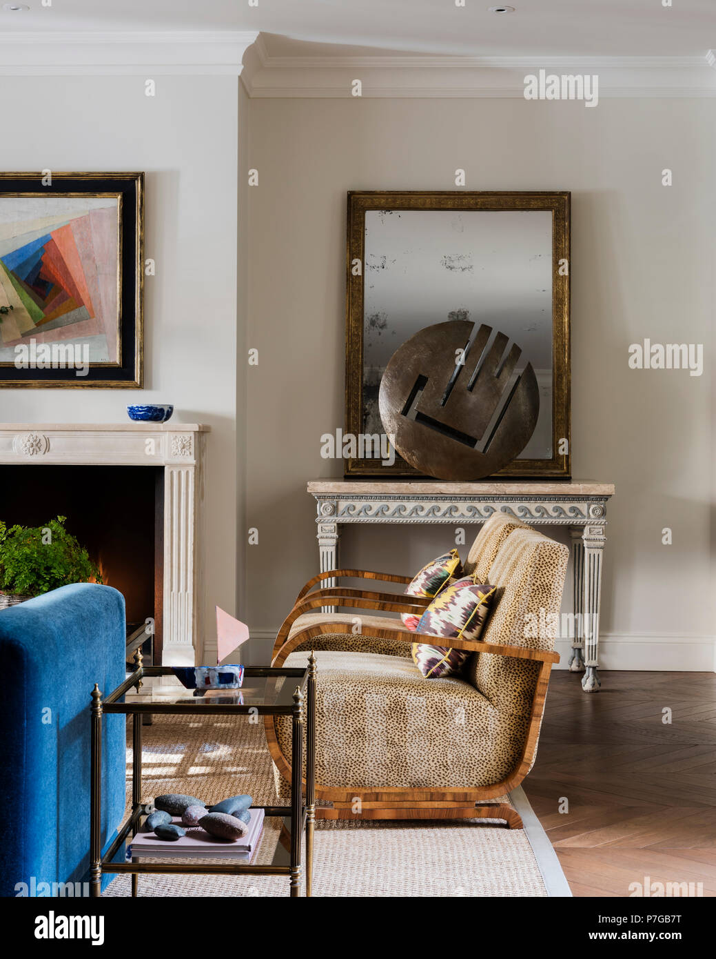Modern armchairs in living room Stock Photo: 211187084 - Alamy