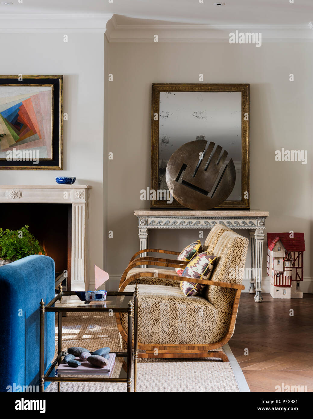 Modern armchairs in living room Stock Photo: 211187089 - Alamy